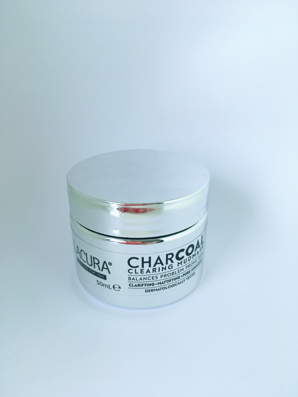 Lacura charcoal face mask