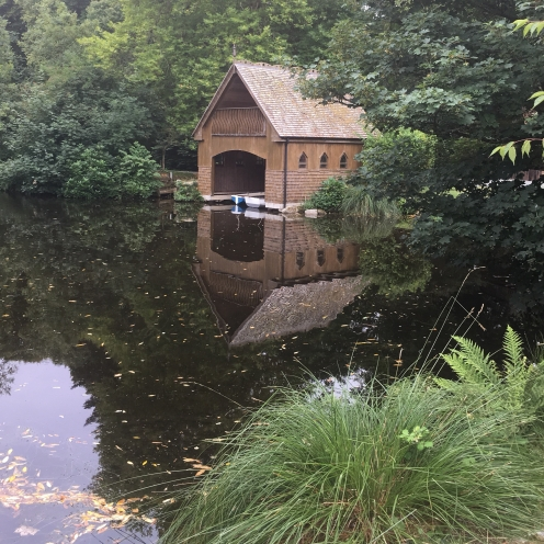 The boat house at the Clowance Estate